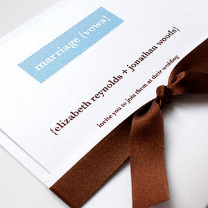 Embrace Wedding Stationery Collection - invitations