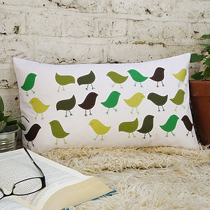 Finch Conference Applique Cushion Cover - cushions