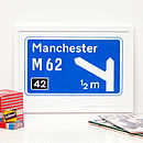 Personalised Print - Motorway Sign