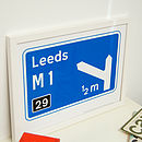 Personalised Motorway Sign Print