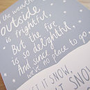 'Let It Snow' Card