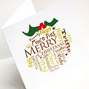 Personalised Christmas Pudding Card Pack