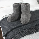Merino Sheep Wool Booties in Charcoal