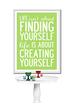 Inspirational Life Quote Poster Or Canvas