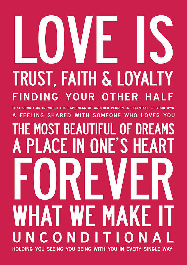 Posters With Quotes About Love : love is inspirational poster or canvas by i love design ...
