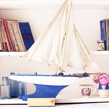 Vintage Toy Star Sailing Boat