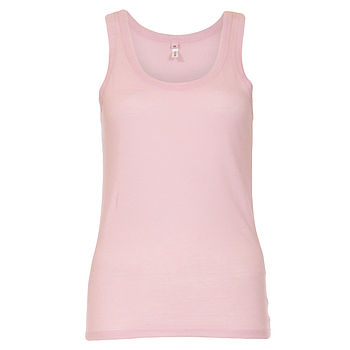 Cotton Pyjama Vest Top - Pale Pink
