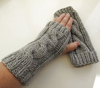 Grey Arm Warmers