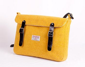 Harris Tweed Yellow Satchel