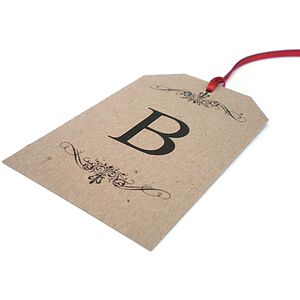 Personalised Initial Gift Tags - ribbon & wrap