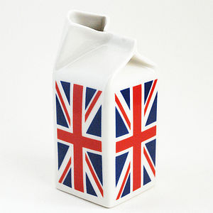 Union Jack Porcelain Milk Jug - vases