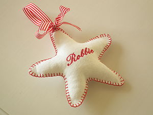 Personalised Embroidered Star