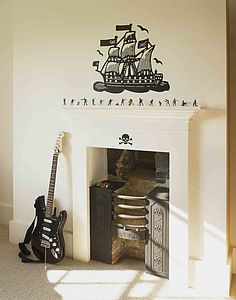 Galleon Wall Sticker - wall stickers