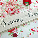 Sewing Room Wooden Painted Plaque