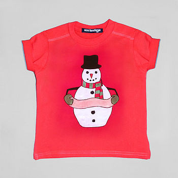 Personalised Mr Snowman Christmas T-Shirt