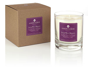 Fig & Wild Berries Natural Wax Candle - table decorations