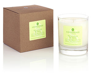 French Lime Blossom Natural Wax Candle - lighting