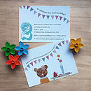 Pack Of Ten Personalised Teddy Invites