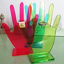Kitsch Perspex Jewellery 'Hand-Stand'