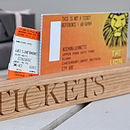 Oak Ticket Holder