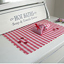 Hot Baths Vintage Inspired Painted Bathroom Sign