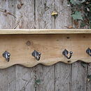 Reclaimed Antique Pine Rack, Hook Shelf