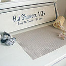 Hot Showers Cream Shabby Chic Painted Bathroom Sign