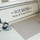 Hot Baths Cream Shabby Chic Painted bathroom Sign