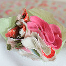 Fabric Flower Napkin Ring