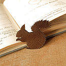 leather squirrel badge metallic bronze