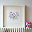 Laser Cut Paper Heart Artwork