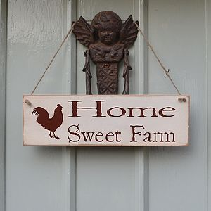 Home Sweet Farm Hanging Sign - room decorations