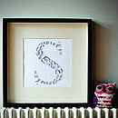Laser Cut Paper Letter Artwork