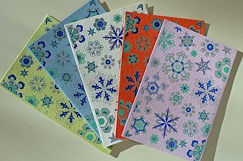 Pack of Snowflake Cards