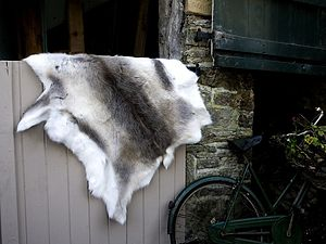 Reindeer Hide Rug - christmas home accessories