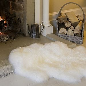 Sheepskin Rug And Throw - rugs & doormats