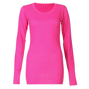 Long Sleeved Cotton Pyjama T Shirt - women's fashion