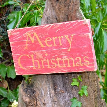 Merry Christmas Rustic Sign