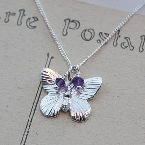Butterfly Necklace In Sterling Silver - necklaces & pendants