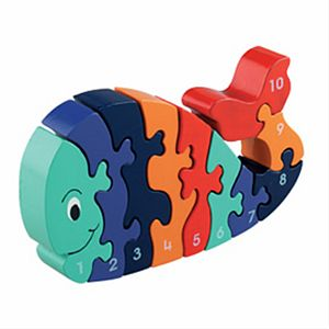 Whale 1- 10 Jigsaw - traditional toys & games