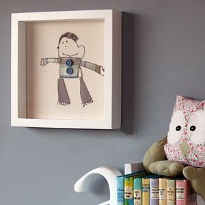 Textile Picture Of Your Child's Art - children's room