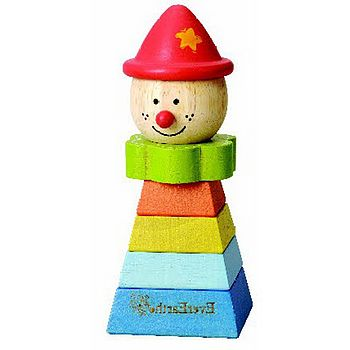 Traditional Toy Stacking Clown Red Hat
