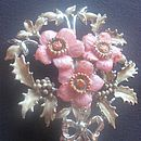 December - Christmas Rose Brooch
