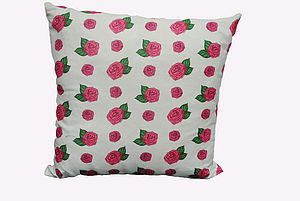 Pink Roses Cushion - patterned cushions