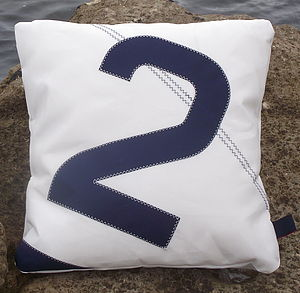 Personalised Sail Number/Letter Cushions - cushions