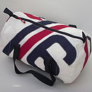 Sailcloth Kit Bag red and navy - medium