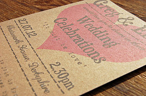 Vintage Love Heart Wedding Stationery Range - table decorations