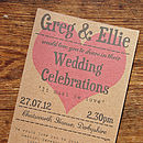 Vintage Love Heart Wedding Stationery Range
