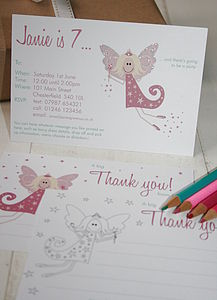 Fairy Party Invites Or Thank You Notes - children's parties