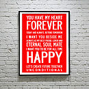 Love Forever Inspirational Poster/Canvas